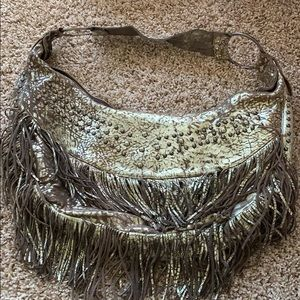 Handbags - Gold Fringe Purse